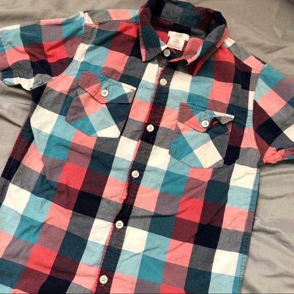654dd4fda Joe Fresh Shirts & Tops | Plaid Button Down Shirt 8 M Blue Red ...